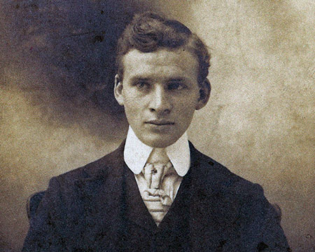 George G. Shepperd, third son of George Shepperd and Rosemary Guttridge's grandfather at the age of 20 in 1902 (Photo courtesy Rosemary Guttridge)