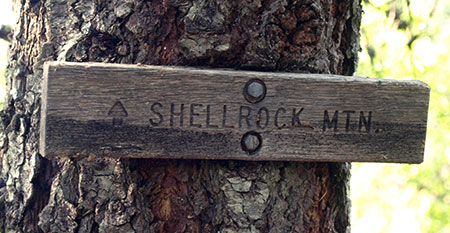 Nope, this sign doesn't lead to Shellrock Mountain… yet…
