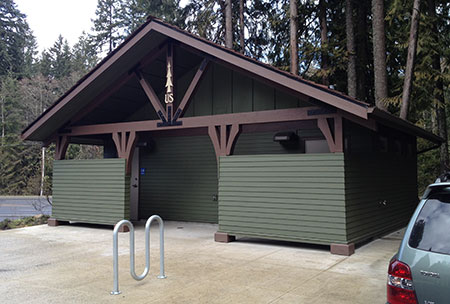 New restrooms at the Zigzag Ranger Station and Visitor Center