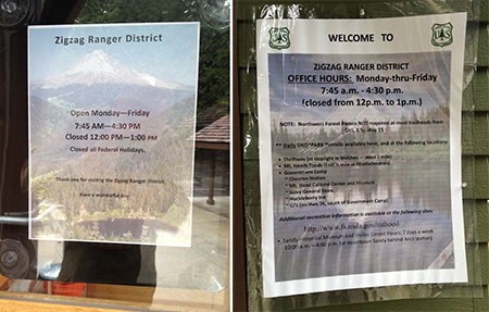 Tacky, tacky -- hopefully, the Zigzag Ranger District will give the new facility the quality informational and interpretive displays it deserves