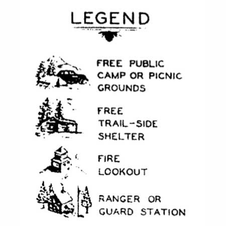 Guard stations were important landmarks for early forest travelers