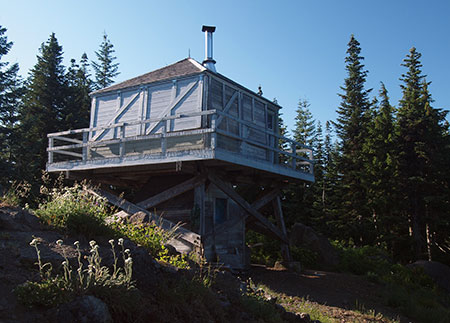 The Devils Peak lookout has apparently found favor with the Forest Service, despite its location inside the Salmon-Huckleberry Wilderness