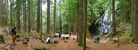 Ramona Falls is among the most visited wilderness destinations in the country and could use a better ranger presence - why not use the Upper Sandy Guard Station as a base?
