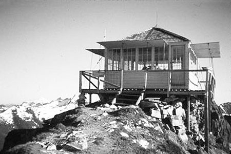 The historic Green Mountain Lookout near Glacier Peak, saved from the federal courts in 2014 by an Act of Congress