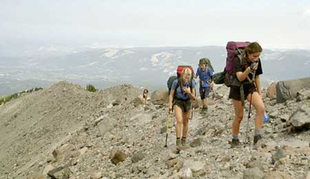 These young hikers are experiencing a tainted rite of passage with the long and often treacherous detour required to complete the Timberline Trail (Photo courtesy Christopher Alley)