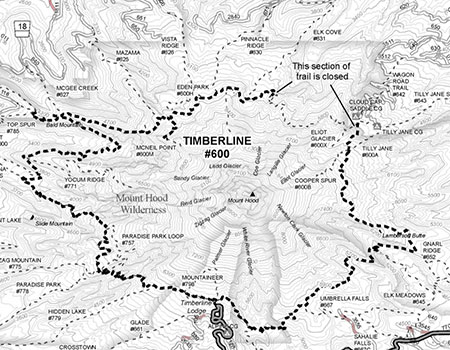 This is the frustrating map that still greets Timberline Trail hikers on the Mount Hood National Forest website after eight years