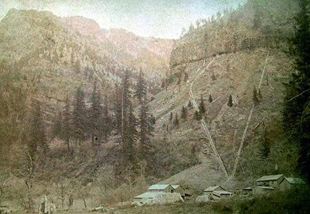 Myron Kelly's pulp mill at McCord Creek in the 1890s