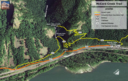 McCord Creek Trail map