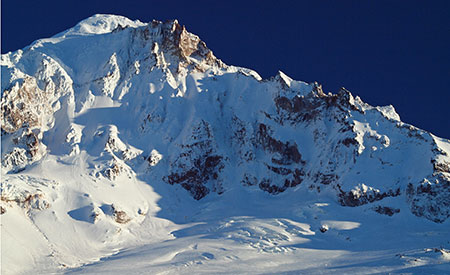 January features the upper Sandy Glacier and towering Sandy Headwall