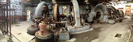 The powerhouse is amazingly well-preserved inside