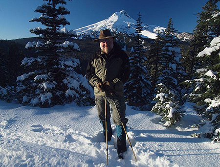 Yours truly taking in the first big snowfall on Mount Hood in early November