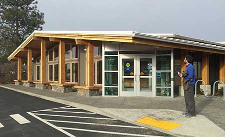 The new visitors center is ADA accessible