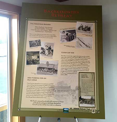Mount Hood Scenic Byway history poster