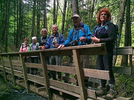 Gorge Friends hike at Warren Creek in April