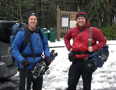 OFG's Vince Patton and Michael Bendixen looking for the illusive Warren Falls in the winter of 2012