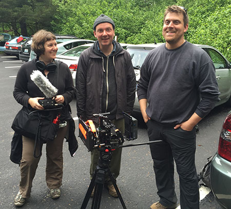 The film crew: Emily Wahl, Eric Macey and Christopher Alley