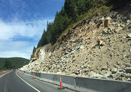 ODOT is still cutting away the north side of Laurel Hill near the historic Chute