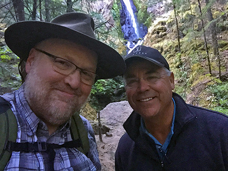 The author with Senator Chuck Thomsen at Warren Creek