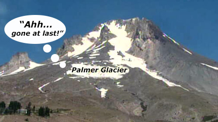 The Palmer Glacier won't miss those snowcats, skiers or tons of salt this August!