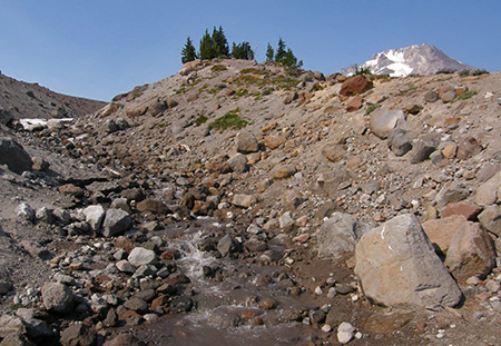 How salty is this runoff from the Palmer Glacier? Enough for the Timberline Resort to be on the defensive, apparently.