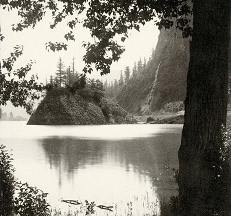 """Echo Bay, Columbia River"" by Frank J. Haynes (1885)"