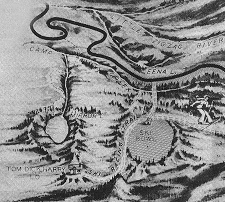 1930s map of the original Mirror Lake Trail