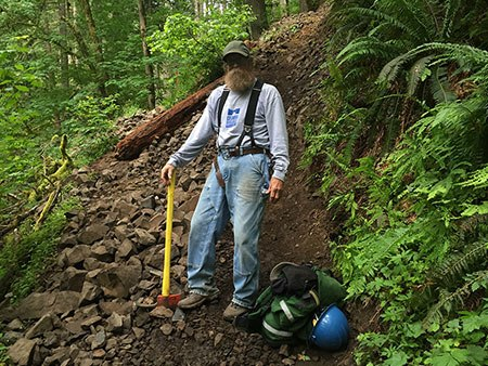 Forest Service trail legend Bruce Dungey and his crews are struggling to stem the damage from overuse of Gorge trails